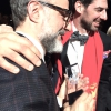 Massimo Bottura and Massimiliano Alajmo once the game was over and the announcements made