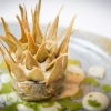 Carciofo, artichoke, a brilliant dish based on contrasts