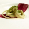 Valentino Felicetti, mountain butter, goat taleggio, powdered beetroot and beech. Another delicious classic