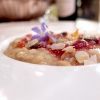 Risotto, ajoblanco, pepper chutney, anchovy colatura, anchovies from the Sea of Cantabria. Pure deliciousness, part two