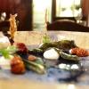 Anchovies marinated in plankton, umeboshi cream, fishbone tempura, Greek yogurt and tomato confit