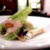 Mare in Insalata, a memorable dish: fish (tub gurnard, rockfish), prawns, calamari, sea urchins, wild herbs and seaweed in tempura