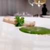 Eel and turnip tops