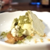 Cauliflower, white chocolate gelato, Matcha tea meringue, dulce de leche