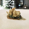 Snails, artichoke royale and teriyaki, another convincing dish, with a nice play of textures and the smoky note of the crispy artichoke