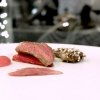 A fantastic Pigeon in ashes, rhubarb and Timut pepper. The filet is a treat, the leg is wrapped in quinoa, the breast is memorable in texture, juiciness and taste, «I cook the pigeon – from Moncucco – in a piece, for 23 minutes at 190°C. I put it in a soapstone pot on top of oak ashes, after covering it in lard and aromatic herbs. The stone absorbs the smoke and gently releases it inside». Paired with: Solesine Rosso Bellavista 2006, a Bordeaux blend no longer produced