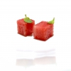 Watermelon processed with osmosis with a spirit made with wild anise and mint