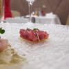 Tris of tartare: this one is with tuna, red onions and cherry tomatoes…