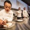 Hideko Kawa, Jonny Lake e James Petrie, rispettivamente pastry chef, head chef e head of creative deprtment del Fat Duck