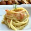 Spaghetti con limoni di mare e finocchietto