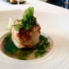 Monkfish, onion water, grilled shallot, green apple, compote of kombu seaweed and candied lemon