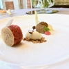 Foie gras terrine, beef steak tartare, annurca apple, mustard and tarragon