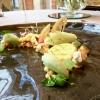 Lemon meringue pie, tamarind and wasabi