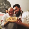 The four-handed pizza from Davide Del Duca and Francesco Martucci from I Masanielli in Caserta
