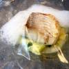 Cod with leek, fennel flavoured jelly and sea flavoured foam