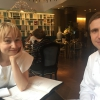 The chef with Yulia Khaybullina, who designed the wine list