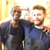 Canella with Ali Sonko, Noma's famous kitchen hand from Gambia who then became partner
