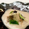 Tuétano silvestre, wild bone marrow: a flan of bone marrow with truffle, mushrooms and cream of chestnuts