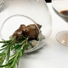 Consomé de tórtola and Tórtola al romero, turtle dove consommé and smoked turtle dove with rosemary. Perfect dish: delicious and very elegant