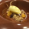 Mandarin sorbet, citrus crumble, fresh mandarin