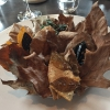 A Winter Platter. Hidden among the leaves, are four edible tastings