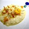 Marigold risotto by Giuliano Baldessari (photo by Carlo Passera)
