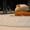 Roasted pineapple with tapioca and passion fruit and ginger ice cream