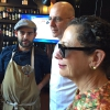 Franco Pepe with Nancy Silverton and Denis Dello Stritto. Photo by Paolo Marchi