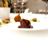 Pigeon, mousse of piparelli, truffle from Pollino, Carpano sauce, celery in two textures